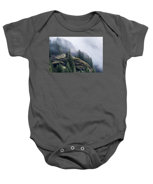 Foggy On Saddle Mountain Baby Onesie