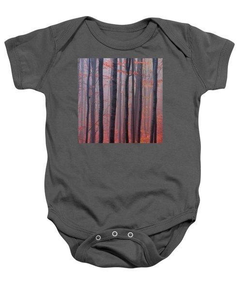 Forest Barcode Baby Onesie