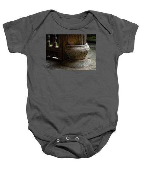 Foundation Stone Under Wooden Pole Used In Chinese Architecture Baby Onesie