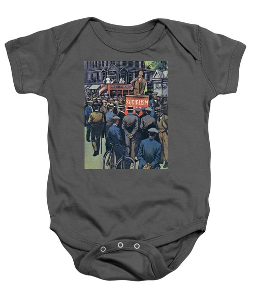 George Bernard Shaw Preaching The Great Idea Of Socialism Baby Onesie