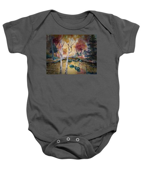 Golden Illumination Baby Onesie