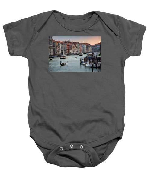 Grand Canal Gondolier Venice Italy Sunset Baby Onesie