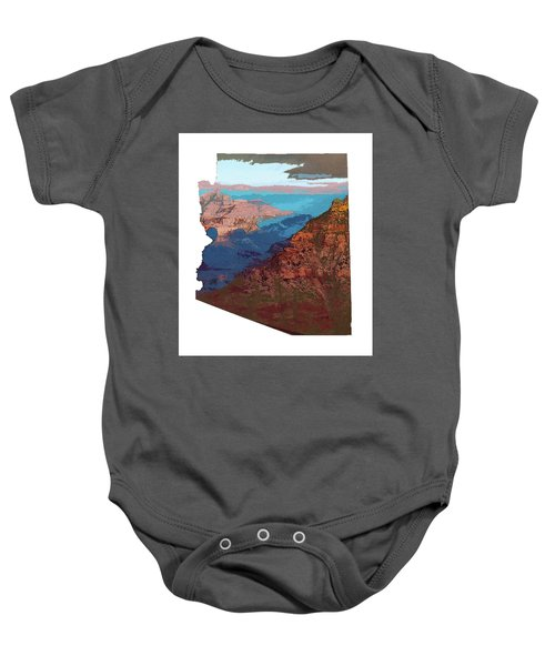 Grand Canyon In The Shape Of Arizona Baby Onesie