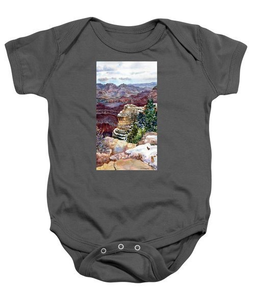 Grand Canyon Winter Day Baby Onesie