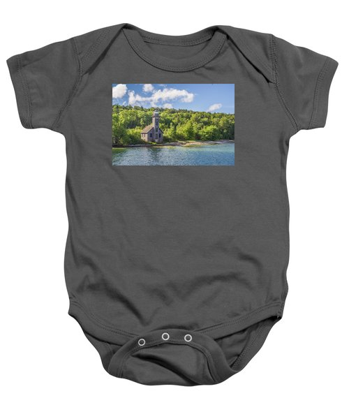 Grand Island East Channel Lighthouse Baby Onesie