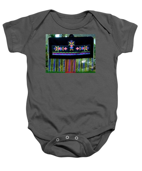 Baby Onesie featuring the tapestry - textile Grand Mothers Garden by Chholing Taha