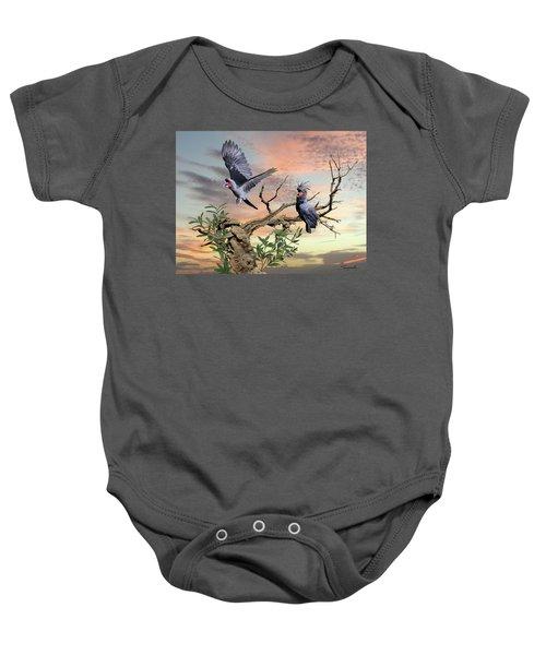 Great Black Cockatoo Pair Baby Onesie