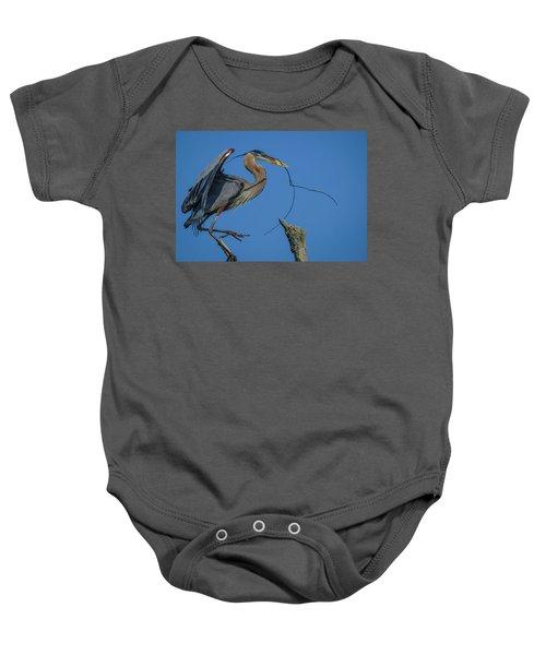 Great Blue Heron 4034 Baby Onesie