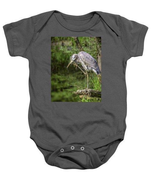 Great Blue Heron Itch Baby Onesie
