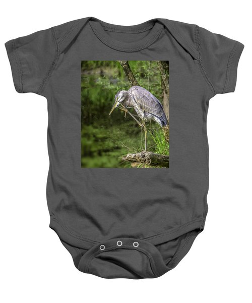 Great Blue Heron Itch Baby Onesie