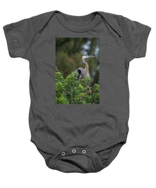 Great Blue Heron Portrait Baby Onesie