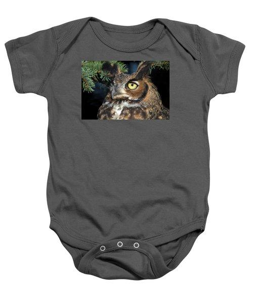 Great Horned Owl 10181801 Baby Onesie