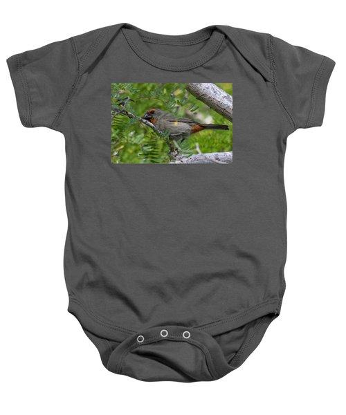 Greater Antillean Bullfinch Baby Onesie