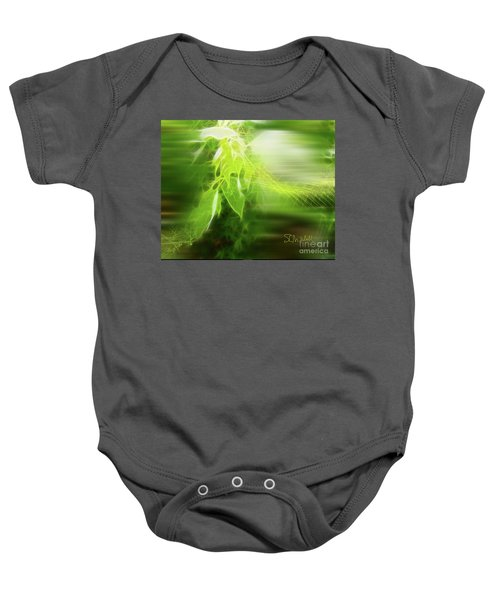 Green Leaves Baby Onesie