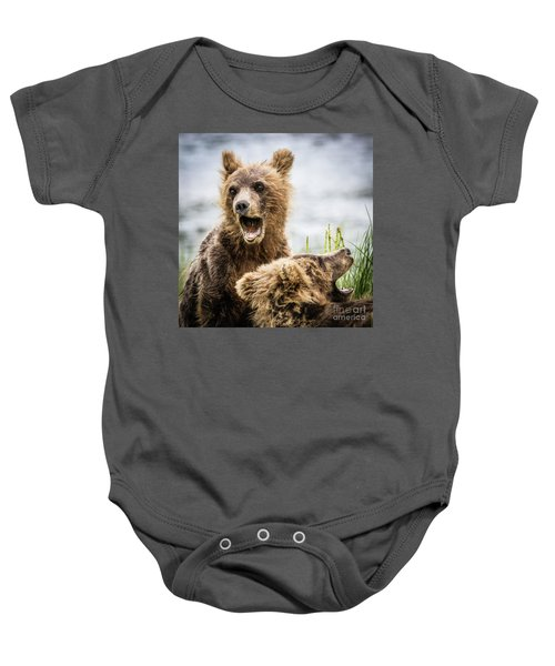 Grizzly Cubs Looking For Their Mum Baby Onesie