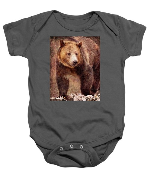 Baby Onesie featuring the photograph Grizzly by Mary Hone