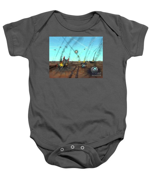 Ground Battle Baby Onesie