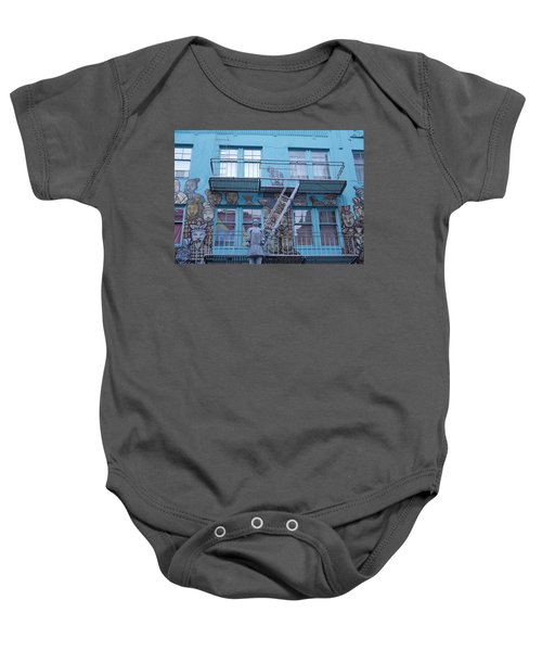 Guarding The Stairs Baby Onesie