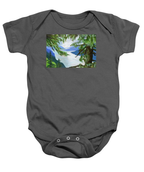 Guided Through The Fjords Baby Onesie