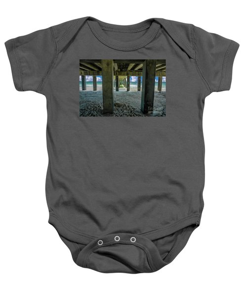 Gulf Shores Park And Pier Al 1649b Baby Onesie