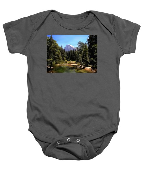 Half Dome From Ahwanee Bridge - Yosemite Baby Onesie