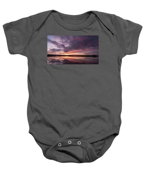 Halifax River Sunset Baby Onesie