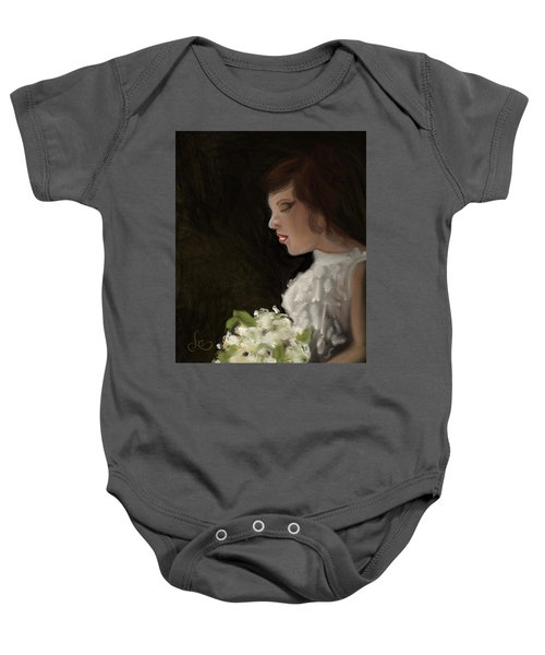 Baby Onesie featuring the painting Her Big Day by Fe Jones