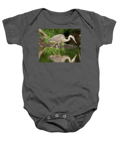 Heron Fishing Baby Onesie