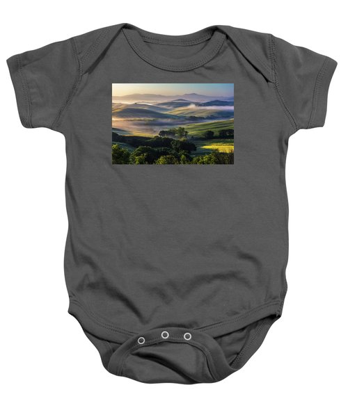 Hilly Tuscany Valley Baby Onesie