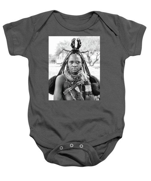 Himba Style Girl Baby Onesie