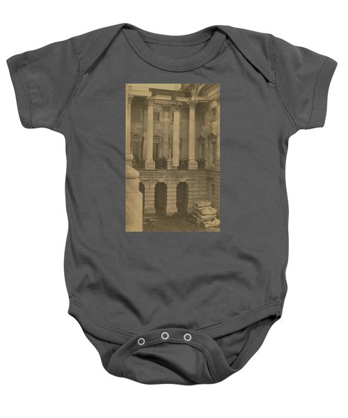 Hoisting Final Marble Column At United States Capitol Baby Onesie