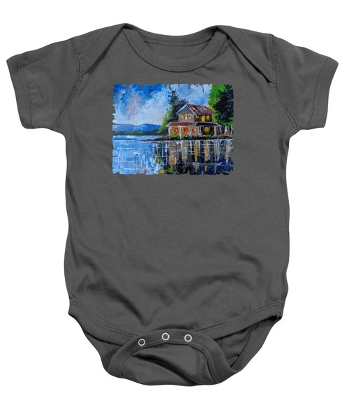 Home By The Lake Baby Onesie