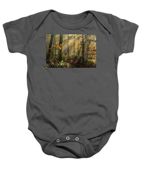 Horizontal Rays Of Sun After A Storm Baby Onesie