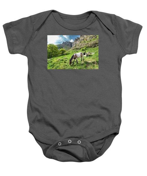 Horse On Balkan Mountain Baby Onesie