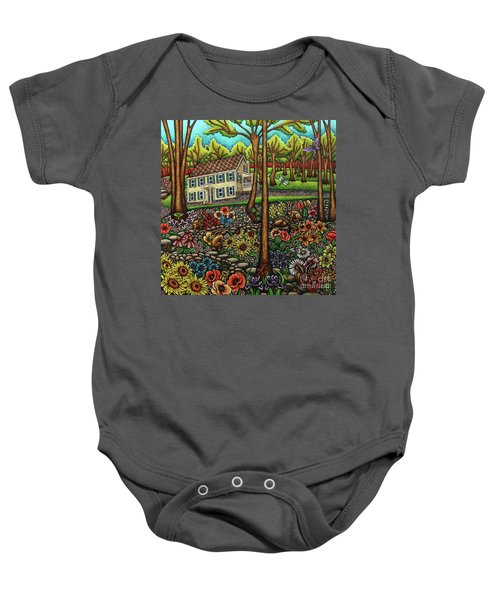 House In The Meadow  Baby Onesie