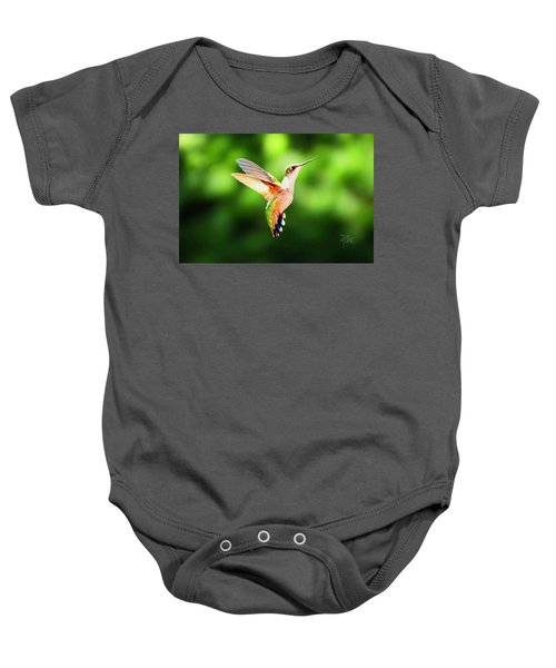Hummingbird Hovering Baby Onesie