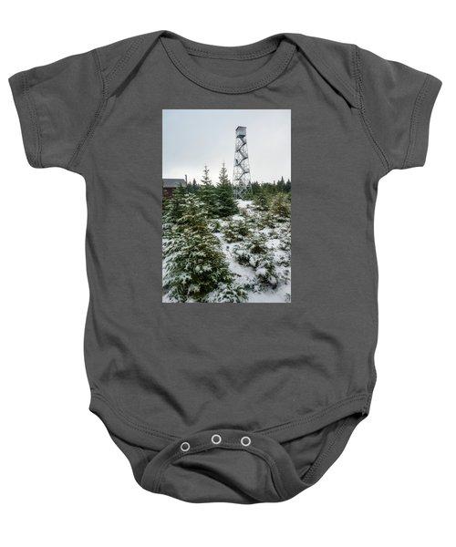 Hunter Mountain Fire Tower Baby Onesie