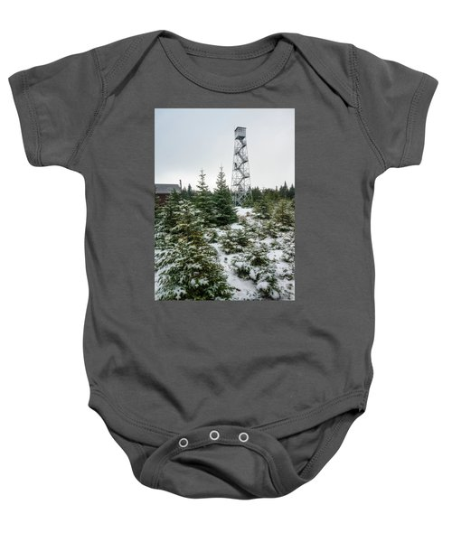Hunter Mountain Fire Tower Baby Onesie