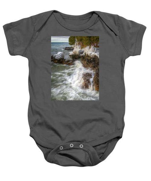 Ice And Waves Baby Onesie