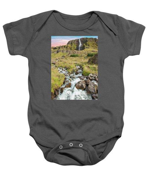 Iceland Waterfall Baby Onesie