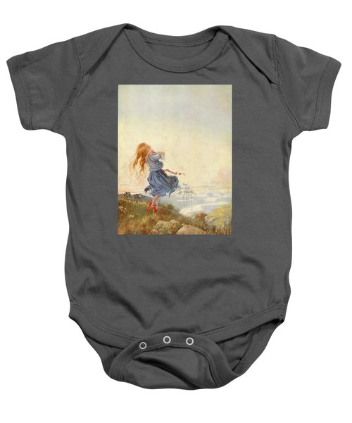 Illustration For The Red Shoes Baby Onesie