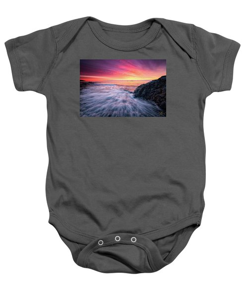 In The Beginning There Was Light Baby Onesie