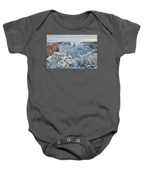 Independence Monument In Snow Baby Onesie