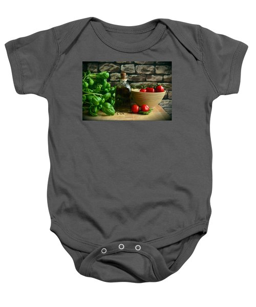 Italian Ingredients Baby Onesie