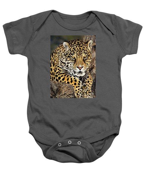 Jaguar Portrait Wildlife Rescue Baby Onesie