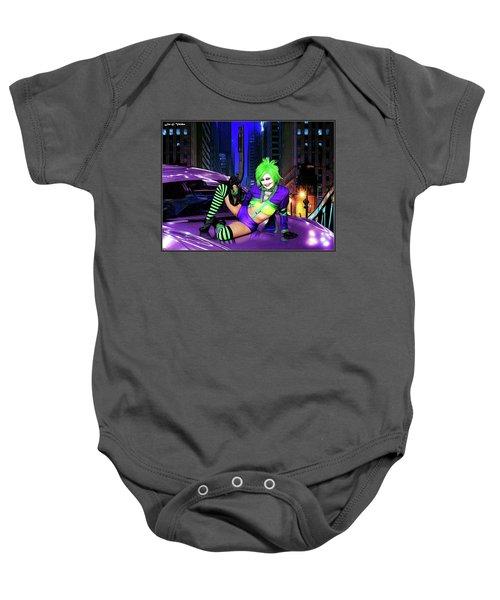 Joker The Color Purple Baby Onesie
