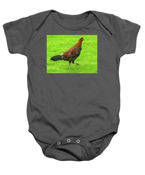 Kauai Rooster Baby Onesie