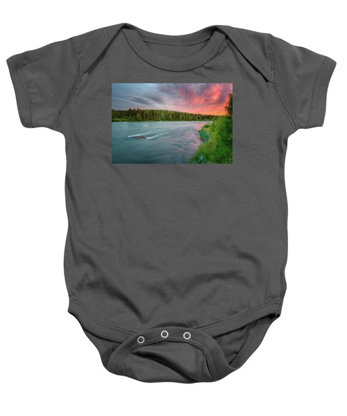 Kenai River Alaska Sunset Baby Onesie