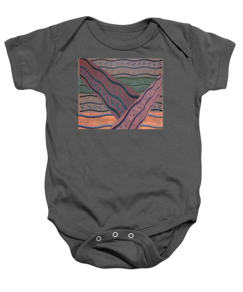 Lake Pat Sign Collage Baby Onesie