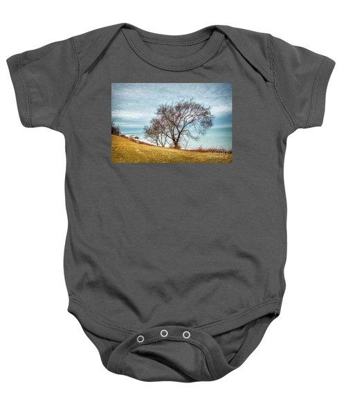 Lakeshore Lonely Tree Baby Onesie